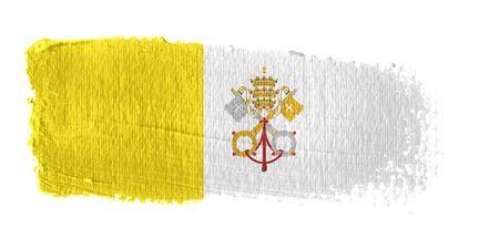 vatican city: Brushstroke Flag Vatican City