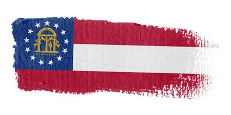 brushwork: Brushstroke Flag Georgia Stock Photo