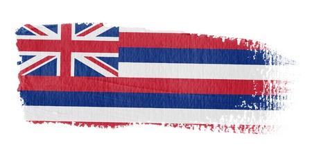 hawaii flag: Brushstroke Flag Hawaii