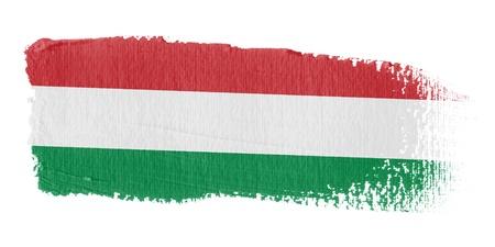 brushstroke: Brushstroke Flag Hungary Stock Photo