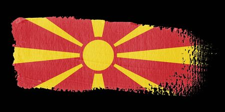 brushwork: Brushstroke Flag Macedonia