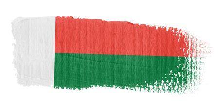 madagascar: Brushstroke Flag Madagascar
