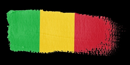 mali: Brushstroke Flag Mali Stock Photo