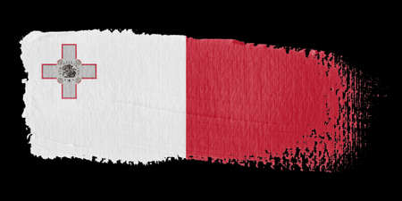 malta: Brushstroke Flag Malta