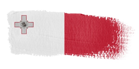 malta flag: Brushstroke Flag Malta