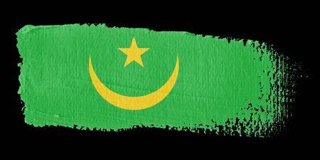 brushwork: Brushstroke Flag Mauritania