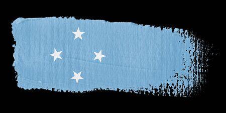 micronesia: 붓 자국 국기 미크로네시아