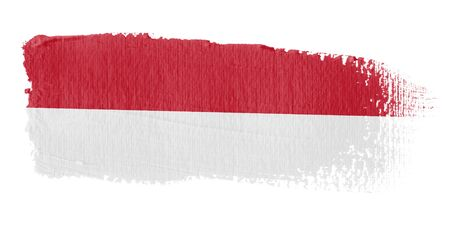 monaco: Brushstroke Flag Monaco Stock Photo