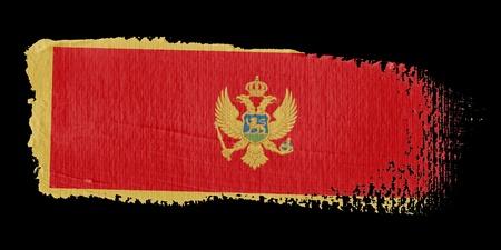brushwork: Brushstroke Flag Montenegro
