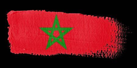 graphing: Brushstroke Flag Morocco