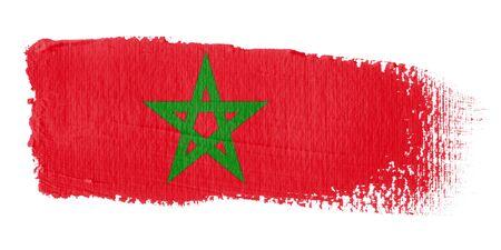 brushwork: Brushstroke Flag Morocco