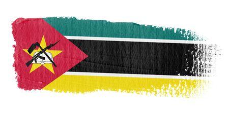 Mozambique: Brushstroke Flag Mozambique