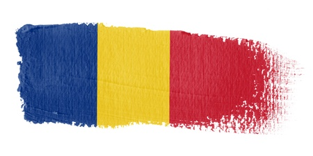 romania: Brushstroke Flag Romania Stock Photo