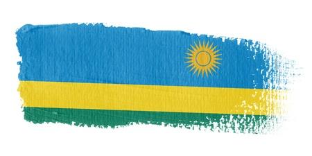brushwork: Brushstroke Flag Rwanda