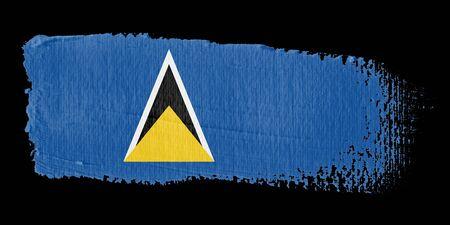 lucia: Brushstroke Flag Saint Lucia