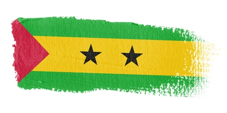 tome: Brushstroke Flag Sao Tome and Principe
