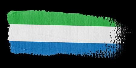 sierra: Brushstroke Flag Sierra Leone