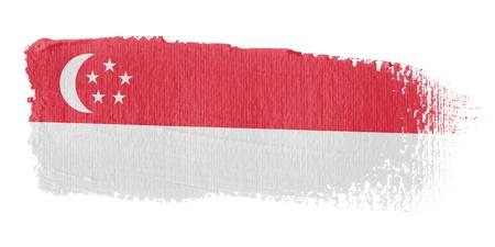 graphing: Brushstroke Flag Singapore