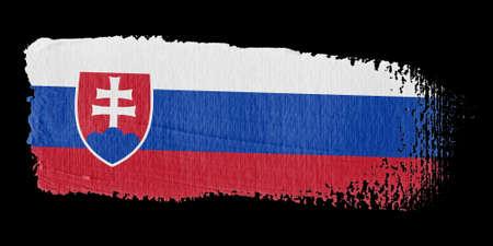 Brushstroke Flag Slovakia photo