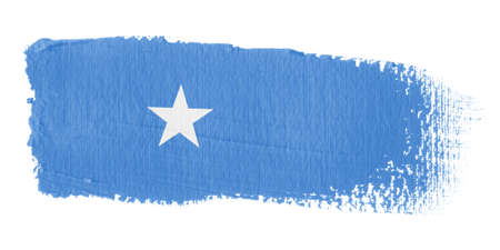 somali: Brushstroke Flag Somalia