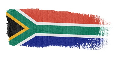 south african: Brushstroke Flag South Africa