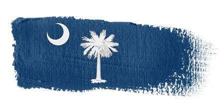 Brushstroke Flag South Carolina photo