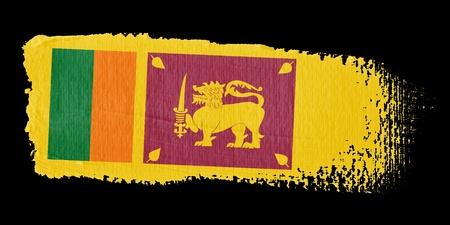 lanka: Brushstroke Flag Sri Lanka