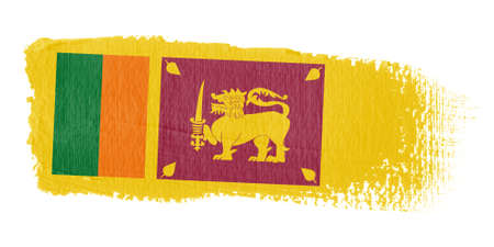 sri: Brushstroke Flag Sri Lanka