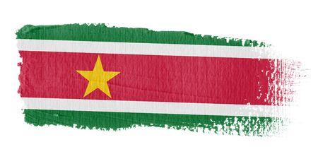 brushwork: Brushstroke Flag Suriname