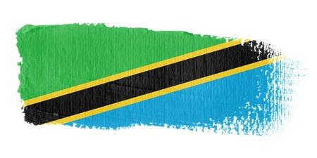 brushwork: Brushstroke Flag Tanzania