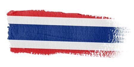 brushstroke: Brushstroke Flag Thailand