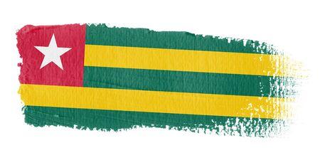 togo: Brushstroke Flag Togo