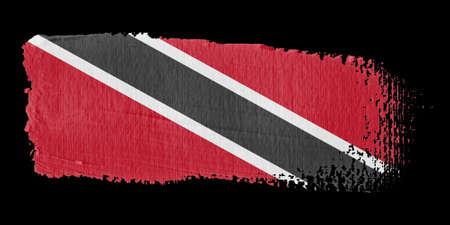 trinidad and tobago: Brushstroke Flag Trinidad and Tobago Stock Photo