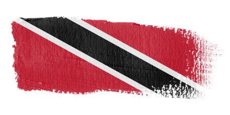 trinidad: Brushstroke Flag Trinidad and Tobago Stock Photo