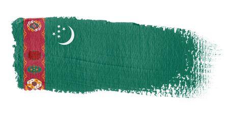 brushwork: Brushstroke Flag Turkmenistan Stock Photo