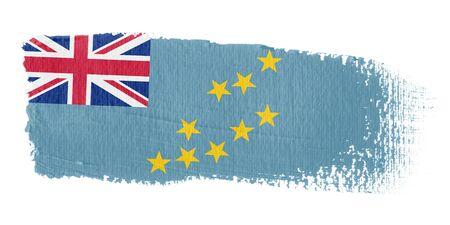 tuvalu: Brushstroke Flag Tuvalu Stock Photo