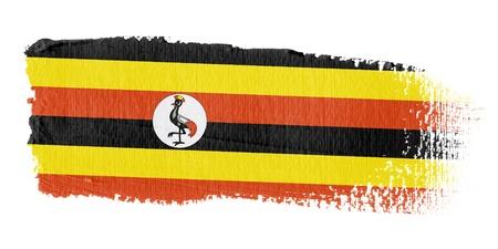 uganda: Brushstroke Flag Uganda Stock Photo