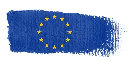 Brushstroke Flag Europe photo