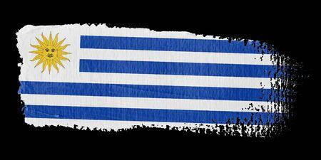 uruguay: Brushstroke Flag Uruguay Stock Photo