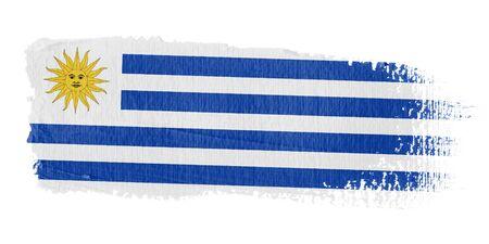 bandera de uruguay: Bandera de pincelada Uruguay Foto de archivo