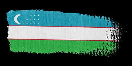 brushwork: Brushstroke Flag Uzbekistan
