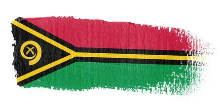 vanuatu: Brushstroke Flag Vanuatu Stock Photo