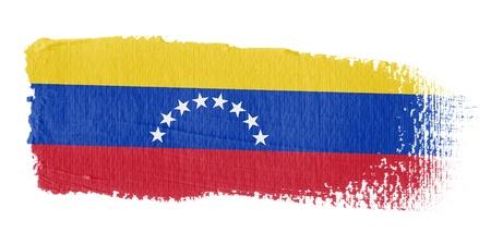 bandera de venezuela: Bandera de pincelada Venezuela