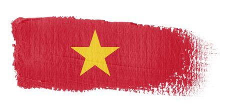 vietnam flag: Brushstroke Flag Vietnam