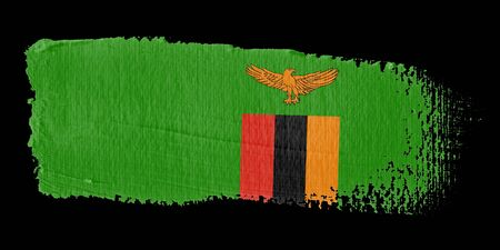 zambia: Brushstroke Flag Zambia