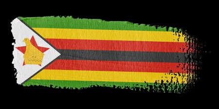 zimbabwe: Brushstroke Flag Zimbabwe