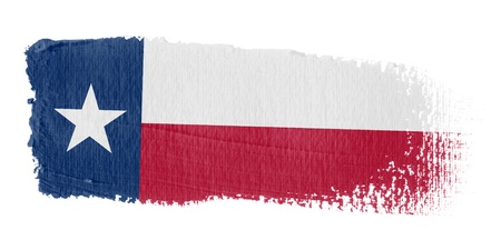 texas state flag: Brushstroke Flag Texas