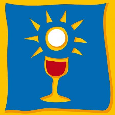 catholic symbols: Host and chalice