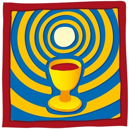 catholic mass: Host and chalice