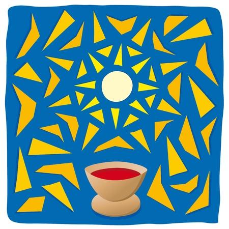 eucharistie: Hôte et le calice